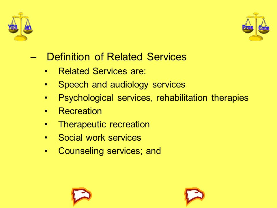 Definition of Related Services