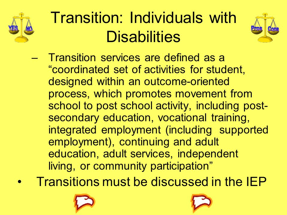 Transition: Individuals with Disabilities