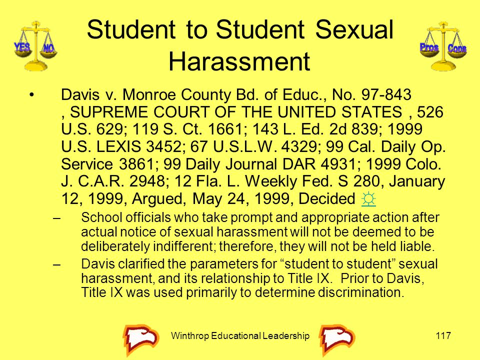 Student to Student Sexual Harassment