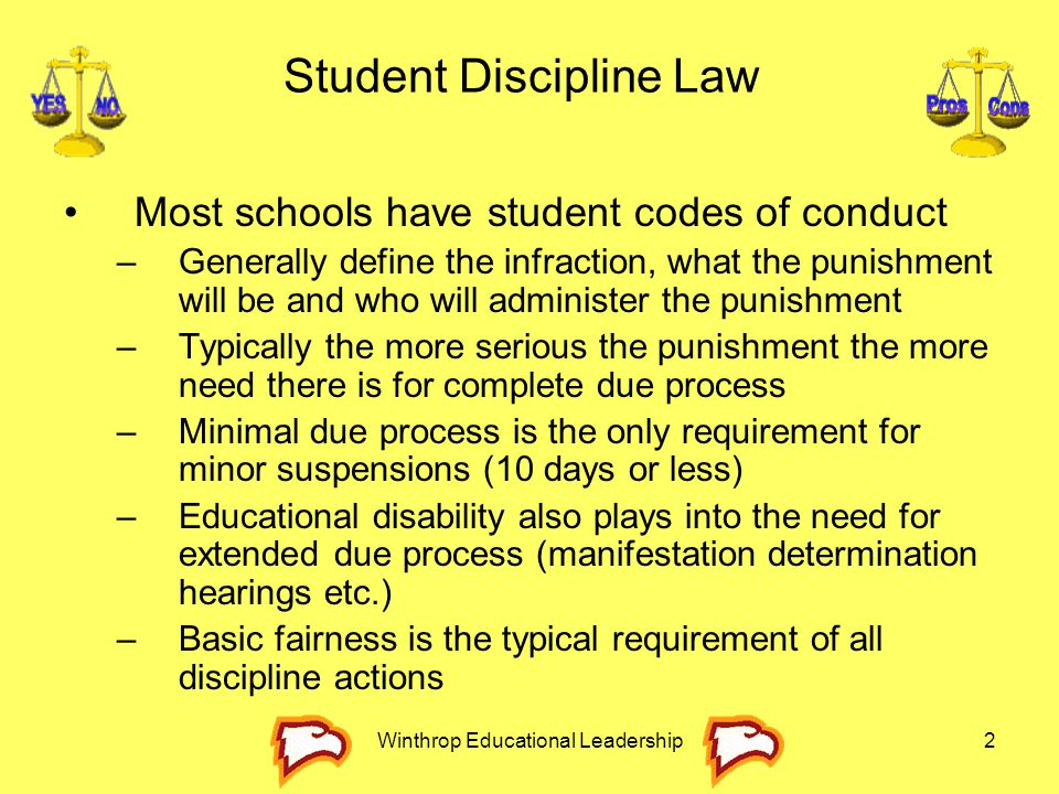 Student Discipline Law