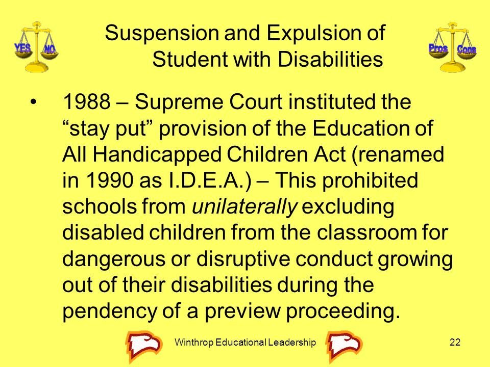 Suspension and Expulsion of Student with Disabilities