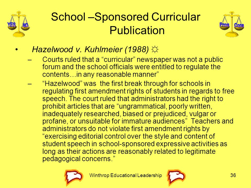 School –Sponsored Curricular Publication