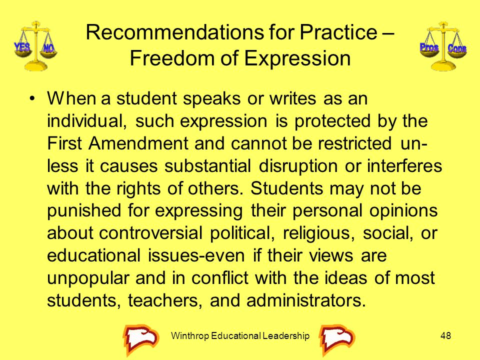 Recommendations for Practice – Freedom of Expression
