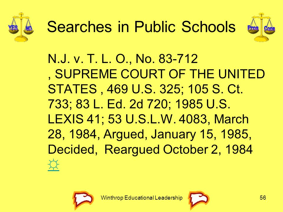 Searches in Public Schools