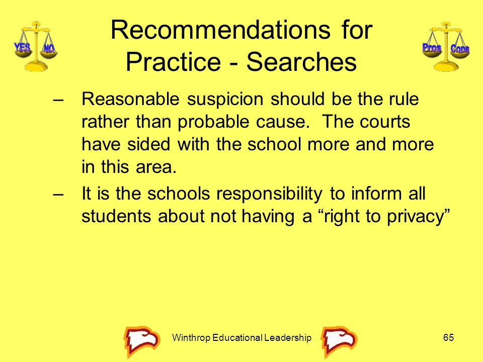 Recommendations for Practice - Searches