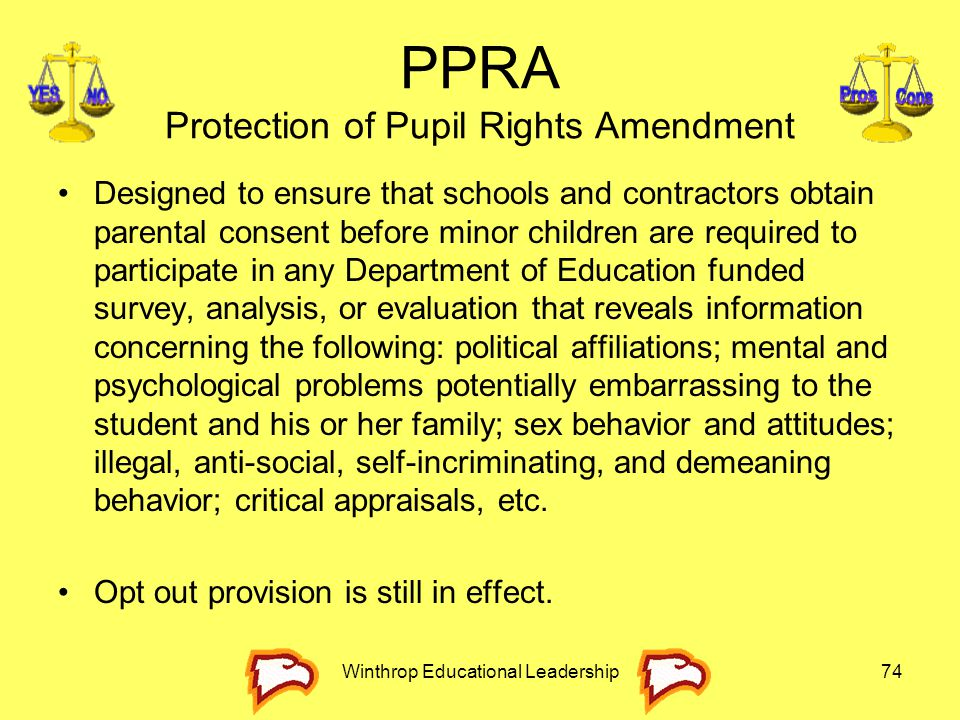 PPRA Protection of Pupil Rights Amendment
