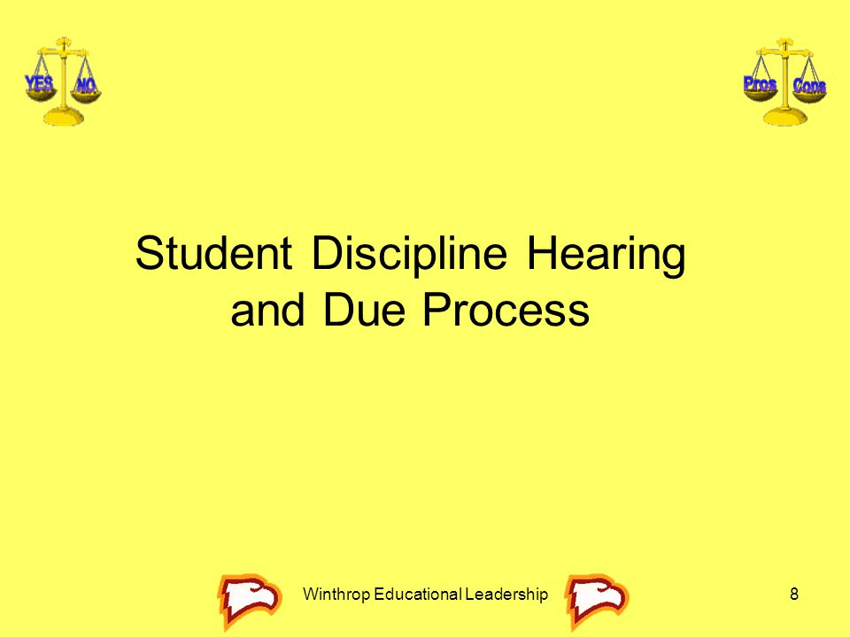 Student Discipline Hearing and Due Process