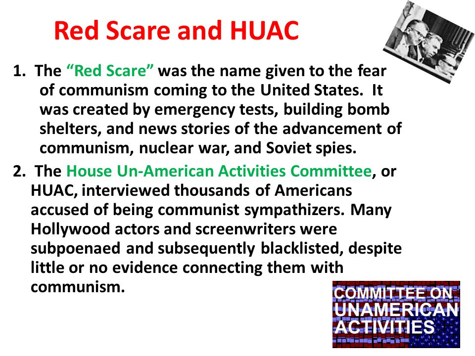 Red Scare and HUAC