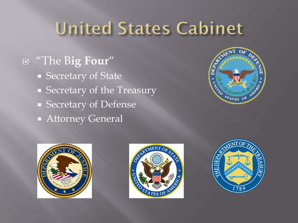 United States Cabinet The Big Four Secretary of State