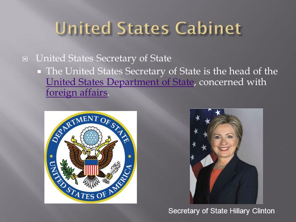 United States Cabinet United States Secretary of State