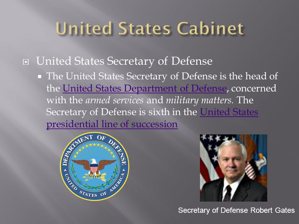 United States Cabinet United States Secretary of Defense