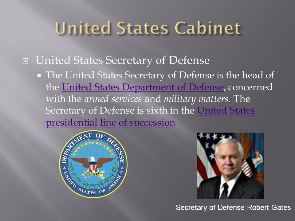 United States Cabinet United States Secretary of Defense