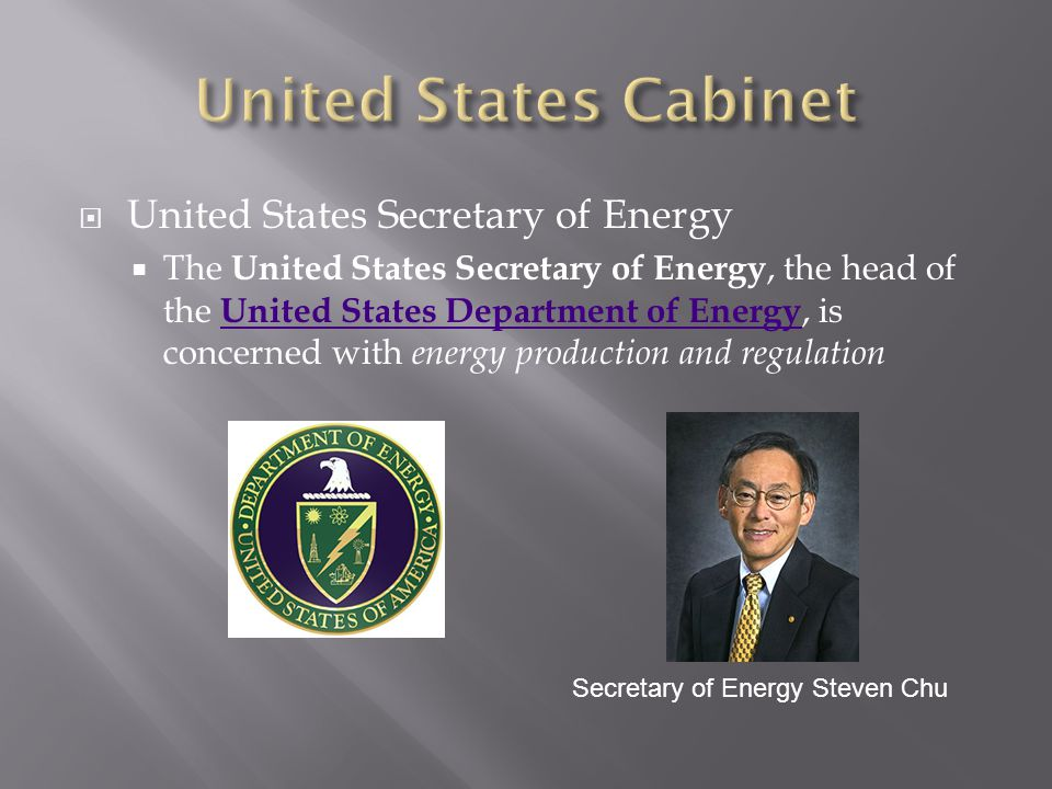 United States Cabinet United States Secretary of Energy
