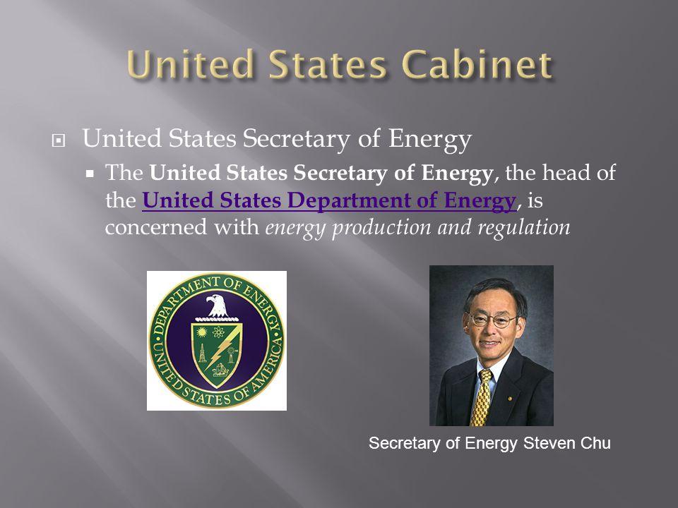 United States Cabinet United States Secretary of Energy