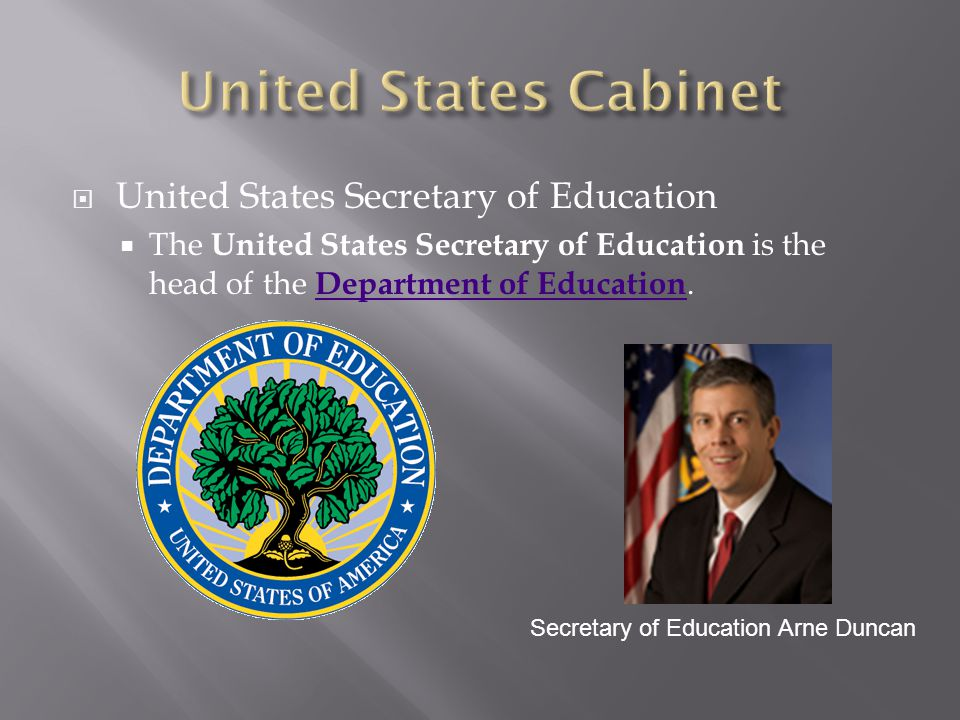 United States Cabinet United States Secretary of Education