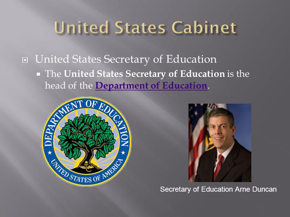 United States Cabinet United States Secretary of Education