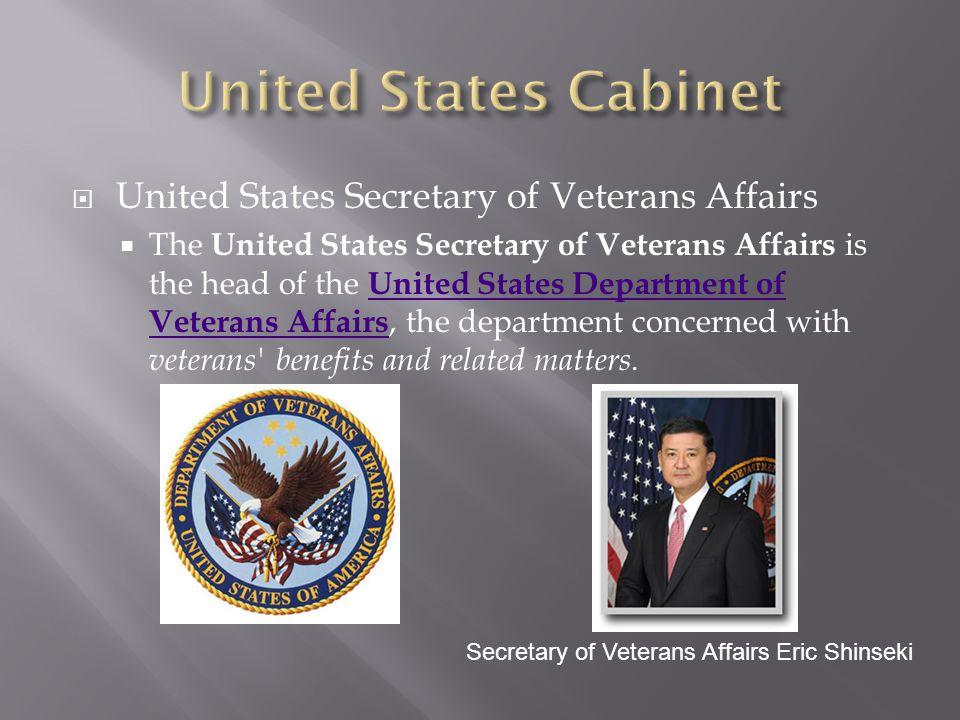 United States Cabinet United States Secretary of Veterans Affairs