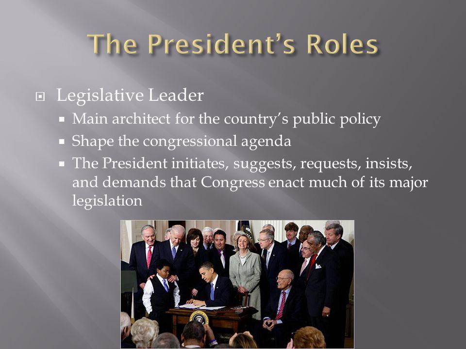 The President's Roles Legislative Leader