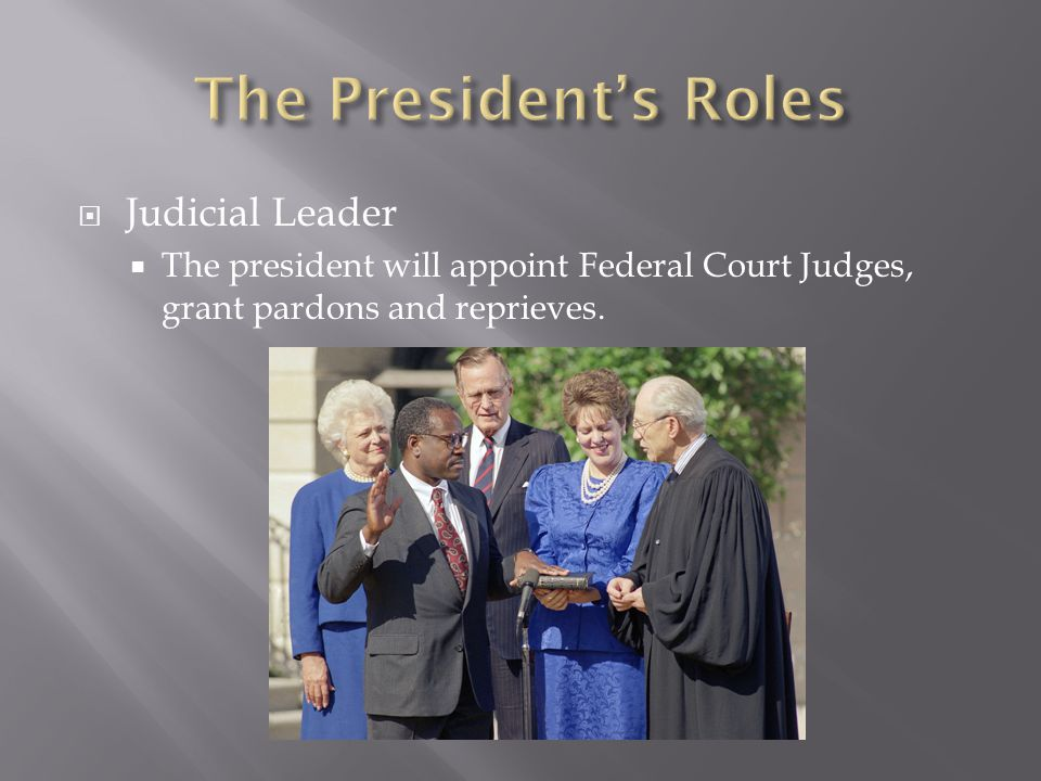 The President's Roles Judicial Leader