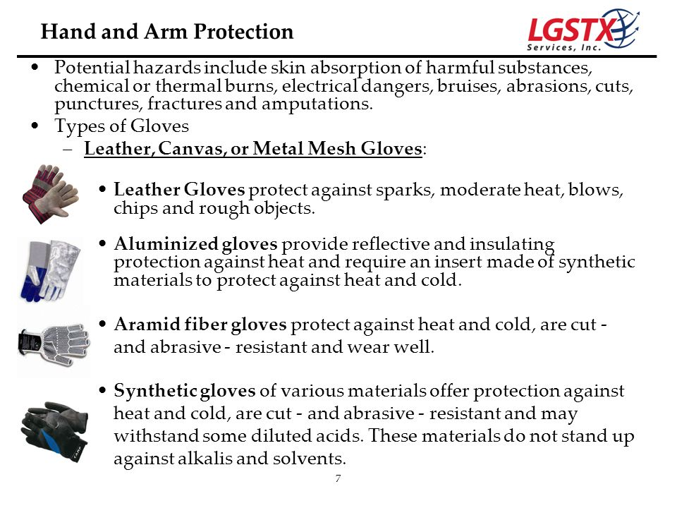 Hand and Arm Protection