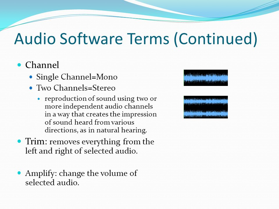 Audio Software Terms (Continued)