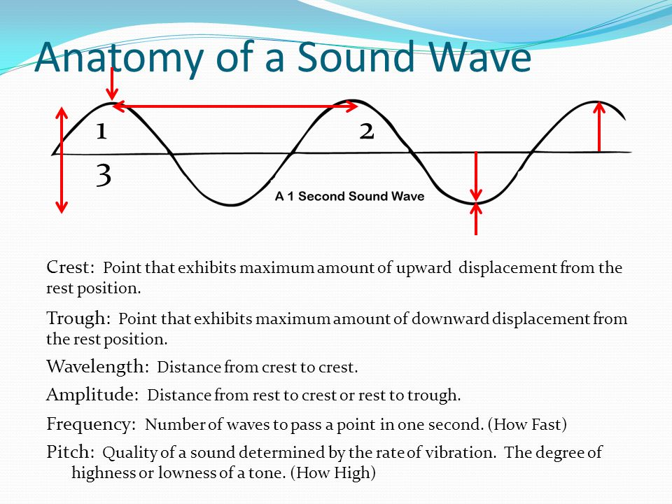 Anatomy of a Sound Wave 1 2 3.