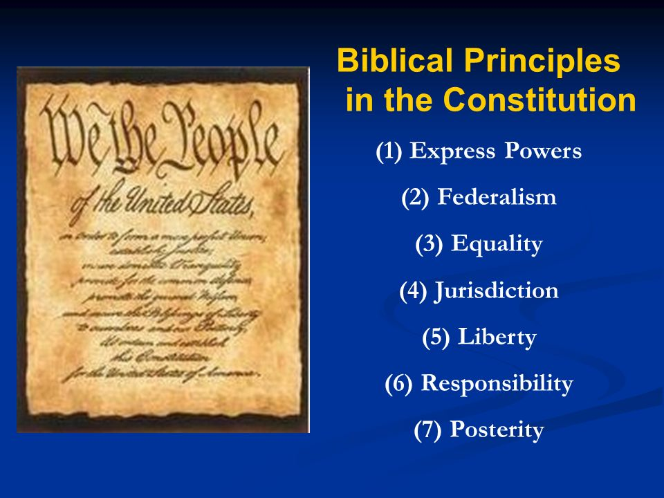 Biblical Principles in the Constitution