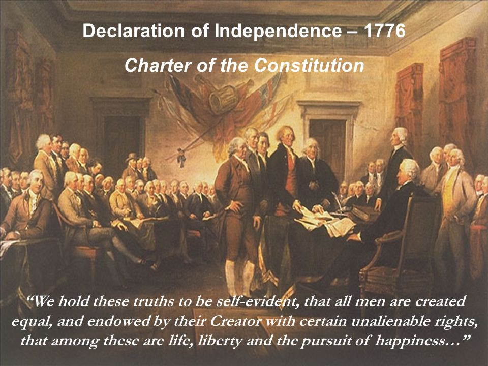 Declaration of Independence – 1776 Charter of the Constitution