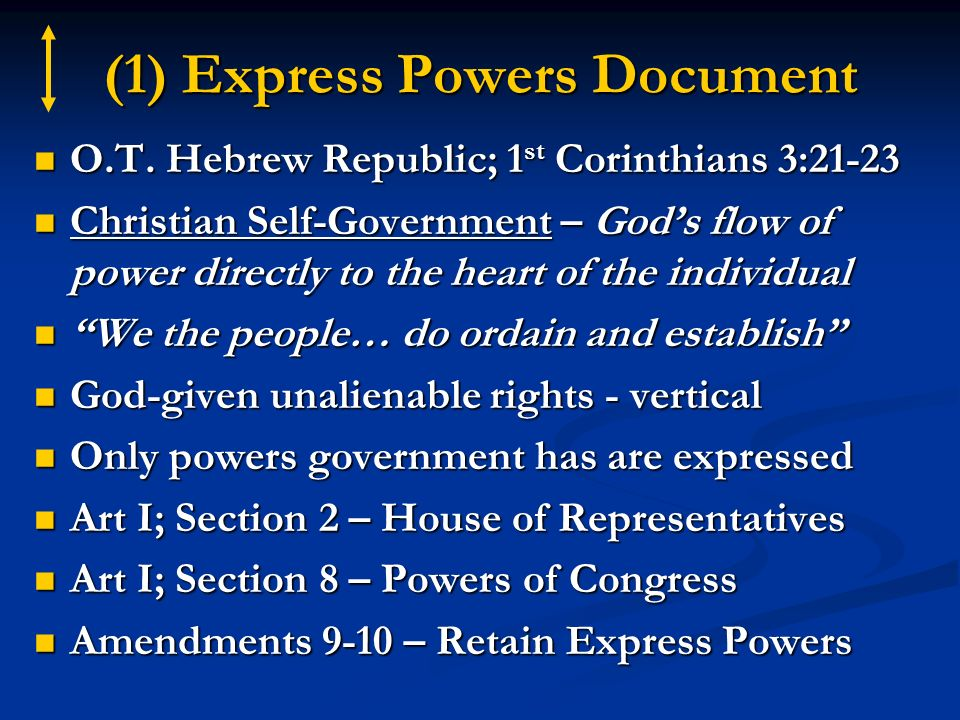 (1) Express Powers Document