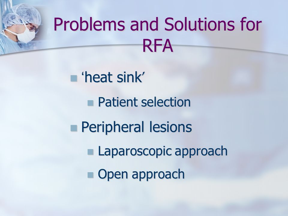 Problems and Solutions for RFA