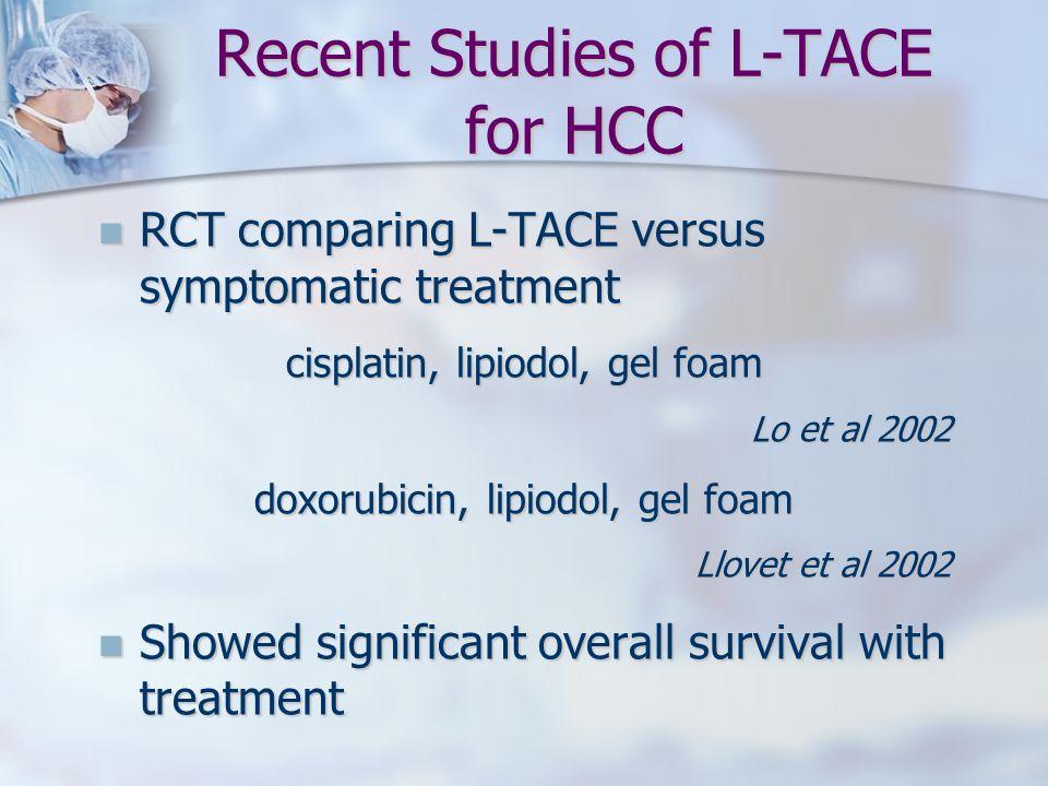 Recent Studies of L-TACE for HCC