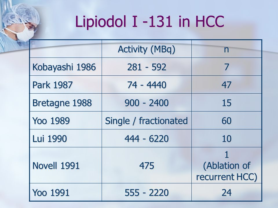 1 (Ablation of recurrent HCC)