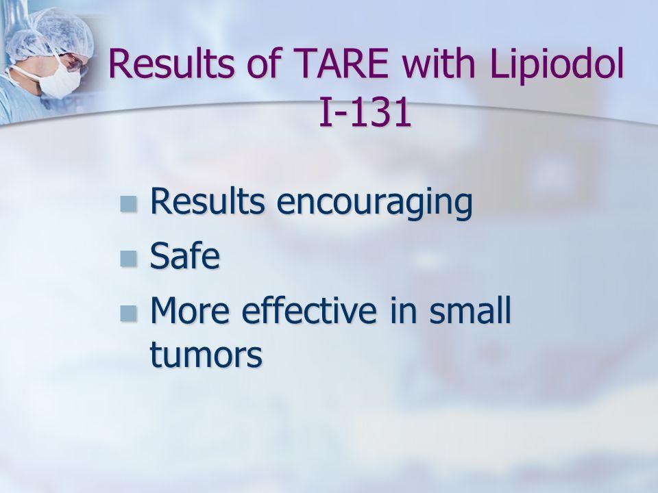 Results of TARE with Lipiodol I-131
