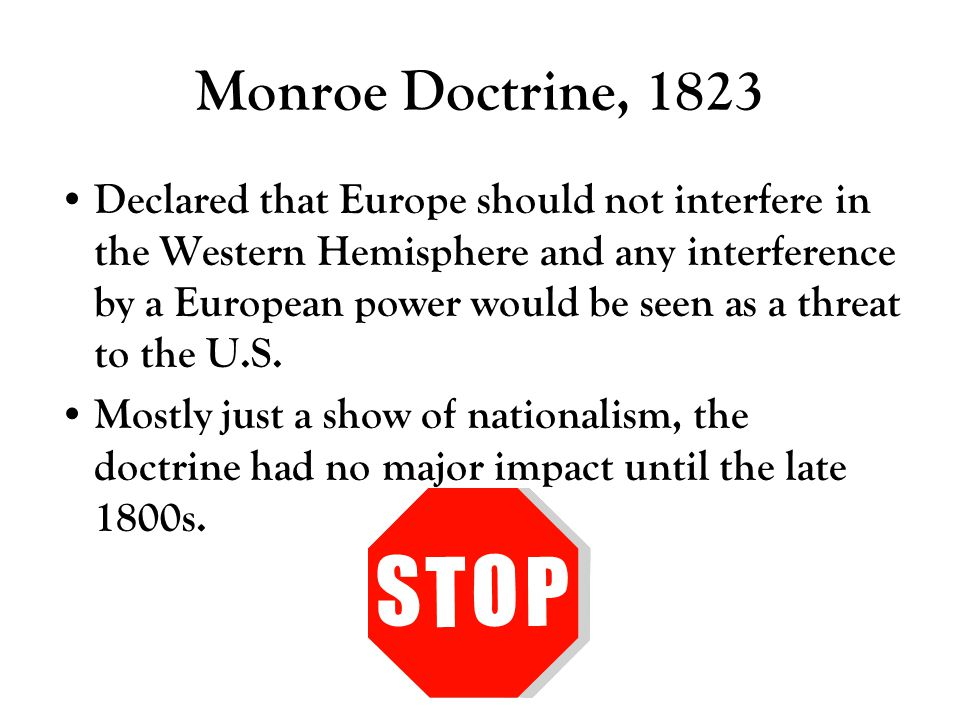 Monroe Doctrine, 1823
