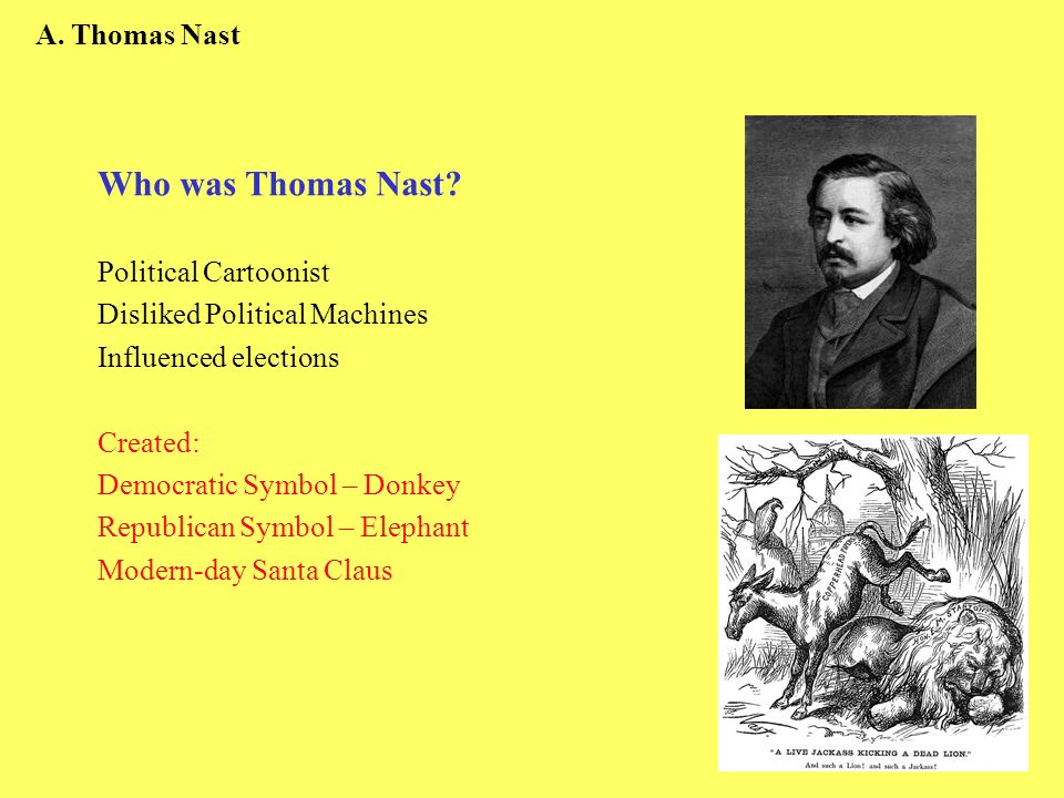 Who was Thomas Nast A. Thomas Nast Political Cartoonist