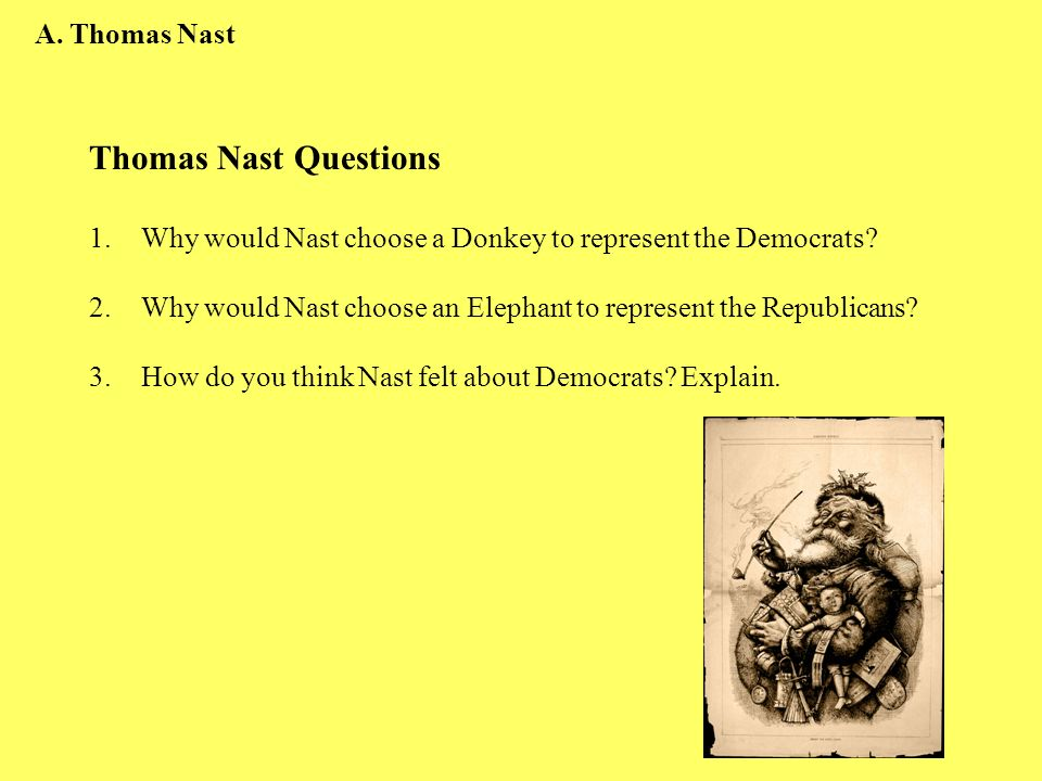 Thomas Nast Questions A. Thomas Nast