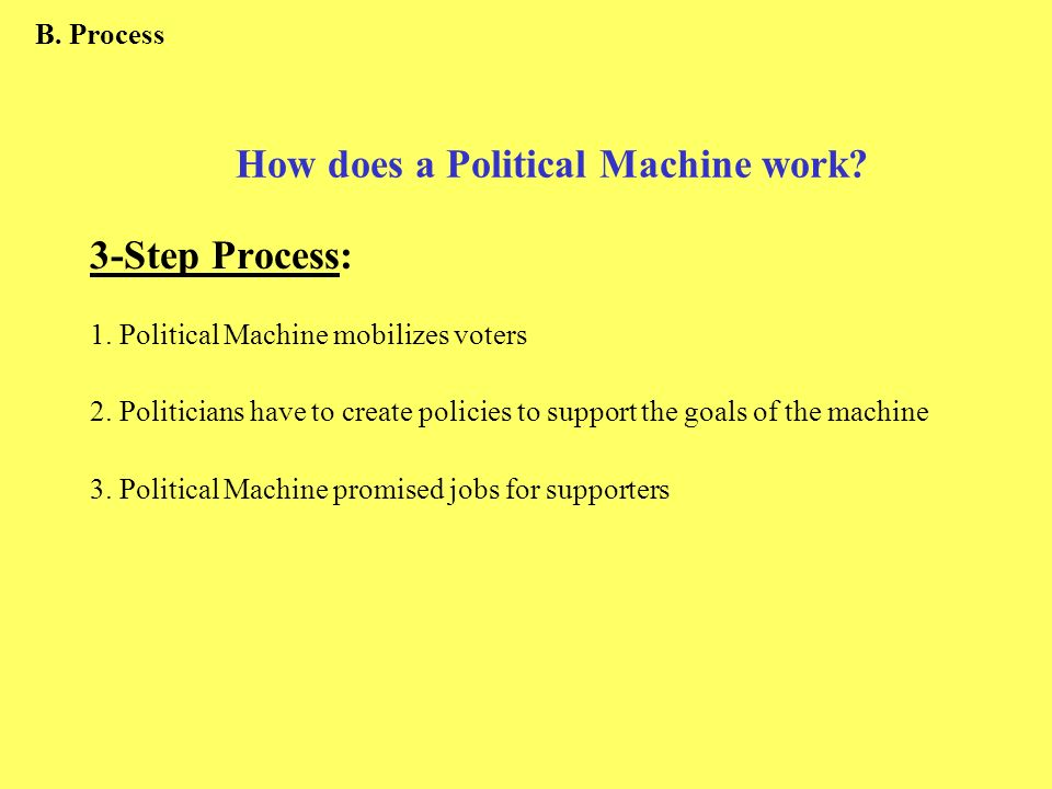How does a Political Machine work