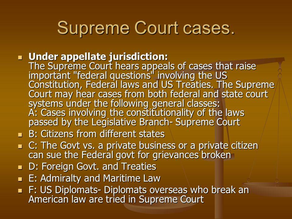 Supreme Court cases.