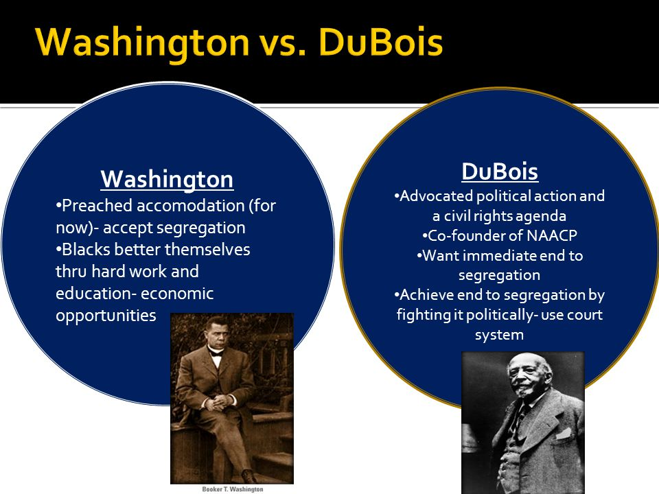 Washington vs. DuBois Washington DuBois