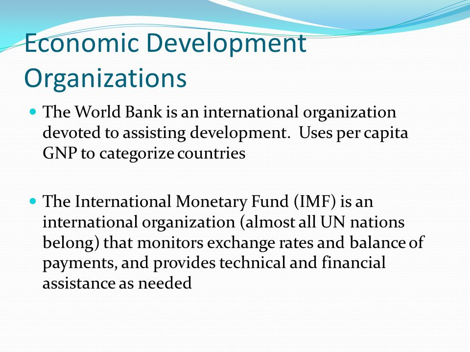 Economic Development Organizations
