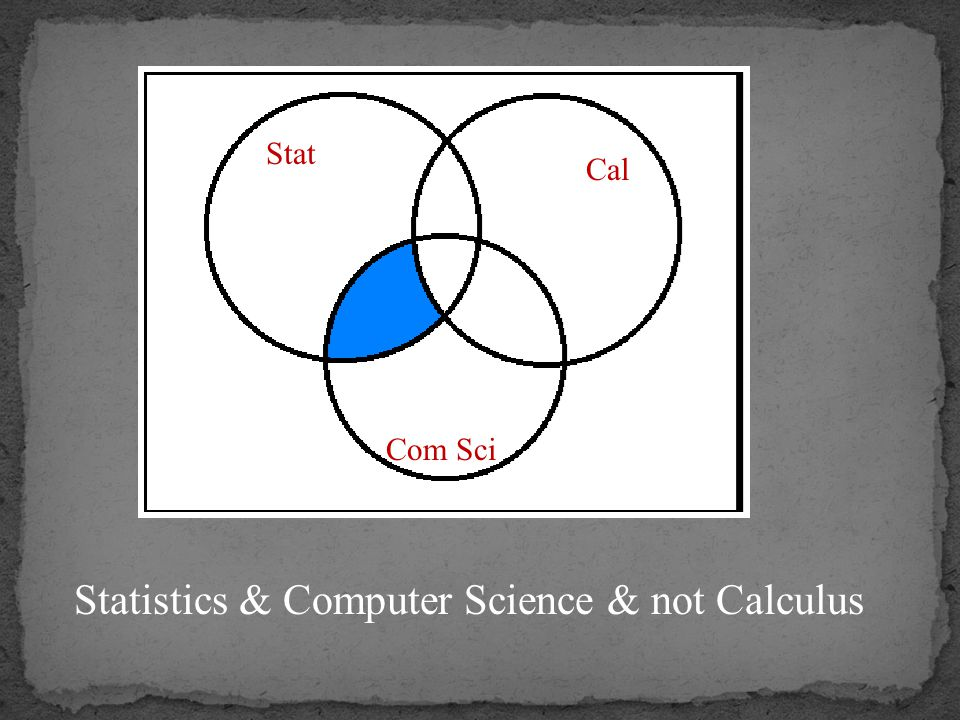 Statistics & Computer Science & not Calculus