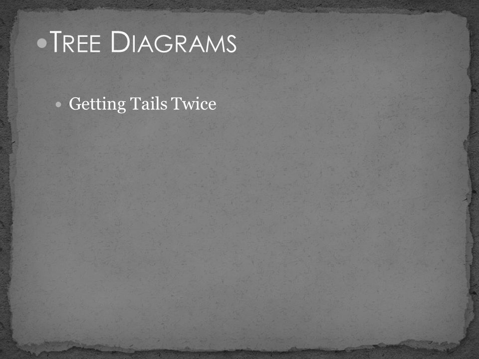 Tree Diagrams Getting Tails Twice