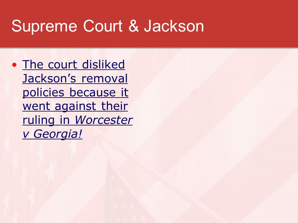 Supreme Court & Jackson