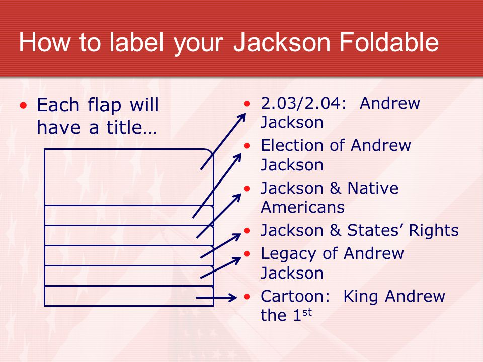 How to label your Jackson Foldable