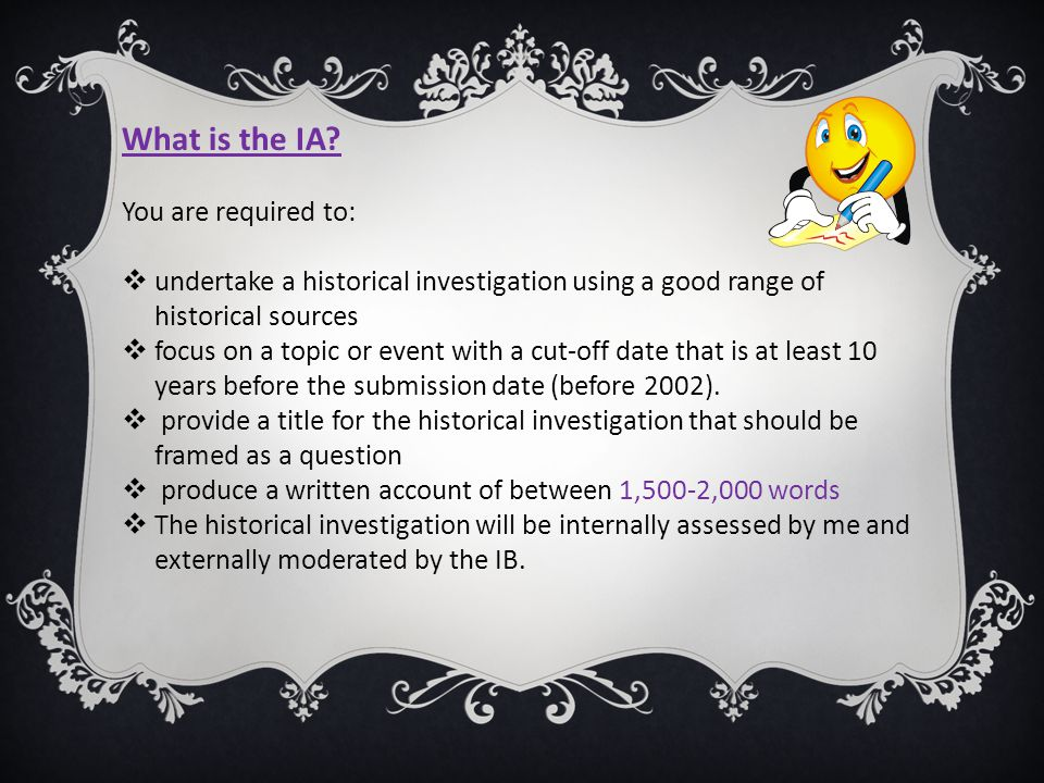 What is the IA You are required to: