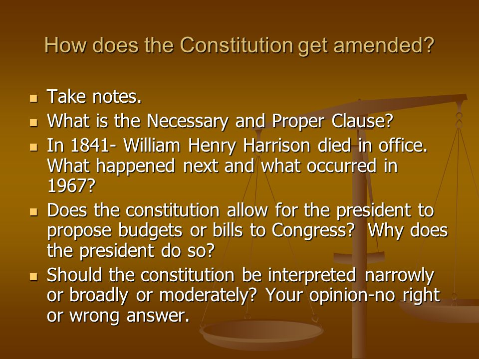 How does the Constitution get amended