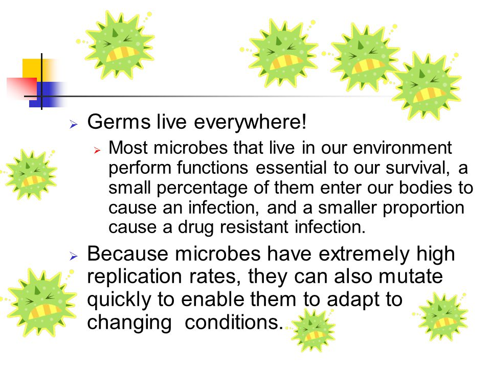 Germs live everywhere!