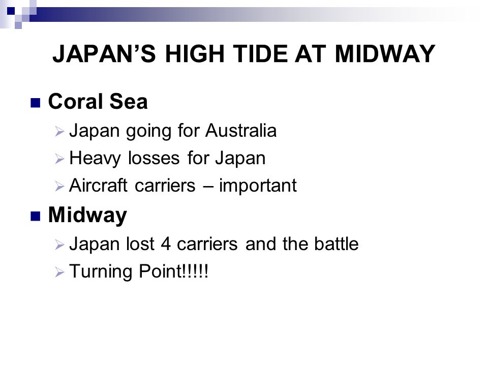 JAPAN'S HIGH TIDE AT MIDWAY