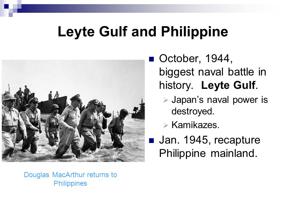 Leyte Gulf and Philippine