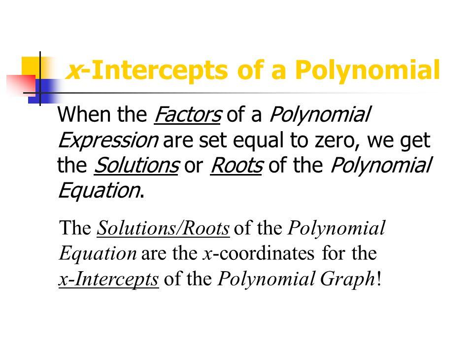 x-Intercepts of a Polynomial